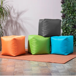 Cubic Bean Bag, Light Green