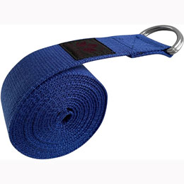 Yoga Strap Blue 8FT- 100% Organic Cotton