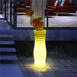 Illuminated Flower Pot 18 x 50 cm