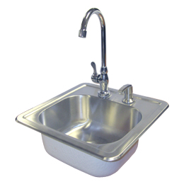 Stainless Steel Sink Faucet & Soap Dispenser