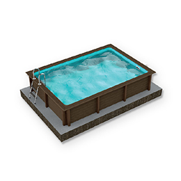 Naturalis Rectangular Pool 01 R15 - H 1.40m