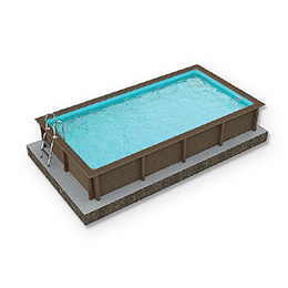 Naturalis Rectangular Pool 02 R15 - H 1.40m