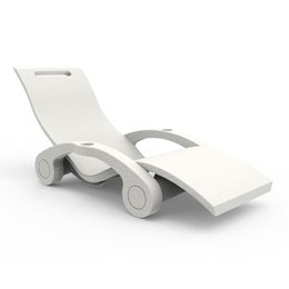 Serendipity Chaise, White
